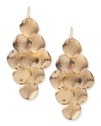 Coin Earrings, Golden