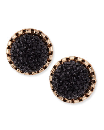 Crystal Bunch Stud Earrings, Black