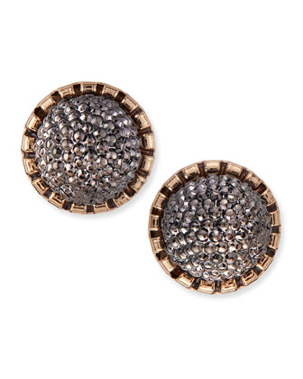 Crystal Bunch Studs, Gunmetal
