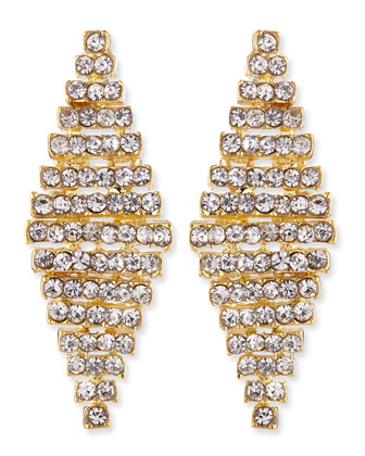 Rhinestone Honeycomb Earrings, Golden