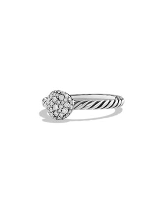 Round Stack Ring with Diamonds
