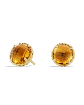 Chatelaine Earrings with Citrine in Gold