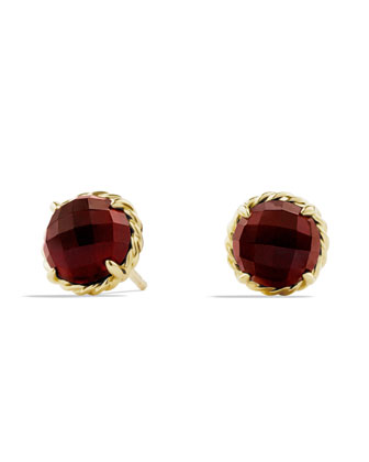 Chatelaine Earrings with Garnet in Gold