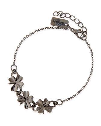 Shamrock Bracelet, Gunmetal-Plate
