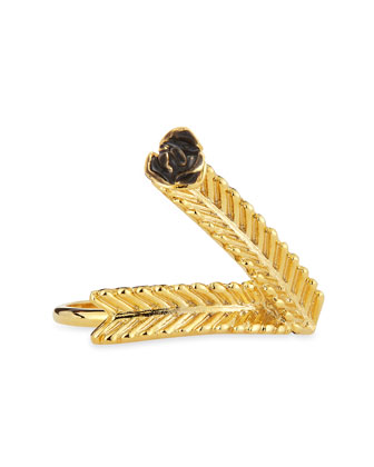 Wheat V Ring, Golden/Black