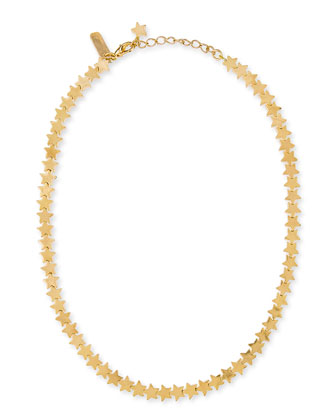 Star Chain Necklace, Gold-Plate