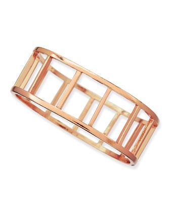 Large Ladder Bangle, Rose Gold-Plate