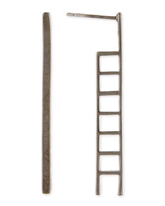 Ladder Earrings, Gunmetal-Plate