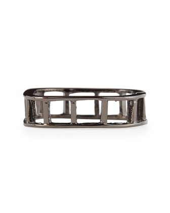 Ladder Ring, Gunmetal-Plate