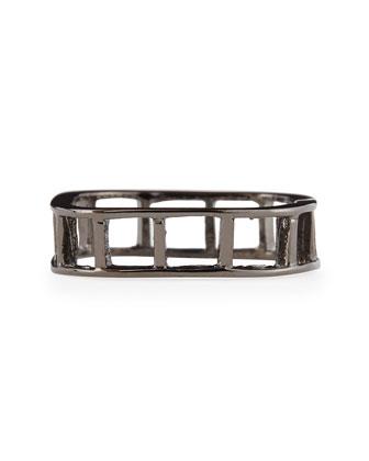 Ladder Ring, Gunmetal-Plate