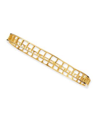 Small Ladder Bracelet, Gold-Plate