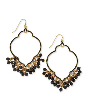 Chandelier Hoop Earrings, Golden