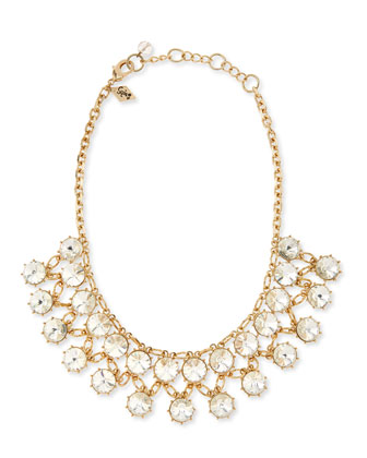 Princess-Cut Crystal Necklace
