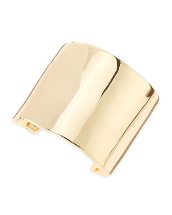 Solid Cuff Bracelet, Golden