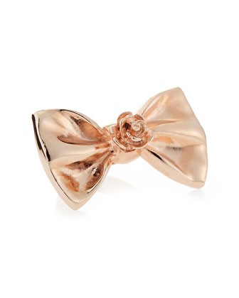 Large Bow Ring, Rose Gold-Plate