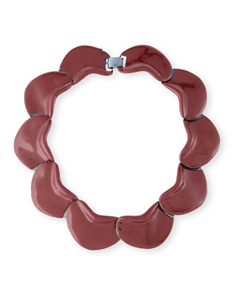Solid Petal Necklace, Port