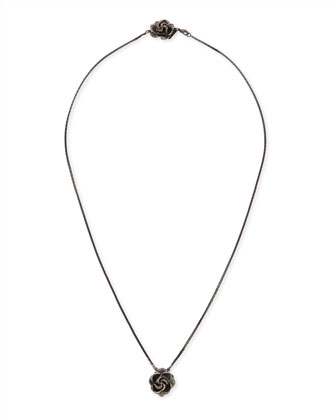 Rosette Scapular Necklace, Gunmetal Plate