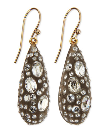 Crystal Dusted Dewdrop Earrings