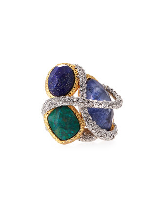 Multi-Stone Vine Ring
