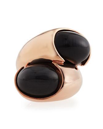 Double Egg Ring, Rose Golden