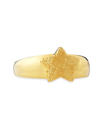 Star Single Ring, Gold Plate