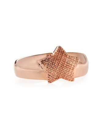 Star Single Ring, Rose Gold Plate