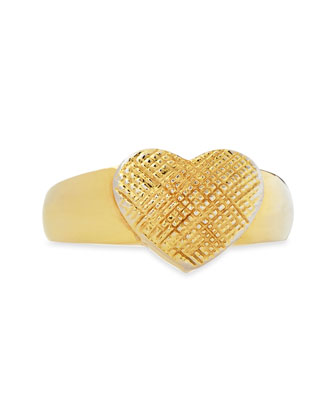 Heart Single Ring, Gold Plate
