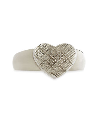 Heart Single Ring, Silver