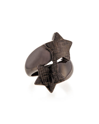 Double Star Ring, Gunmetal