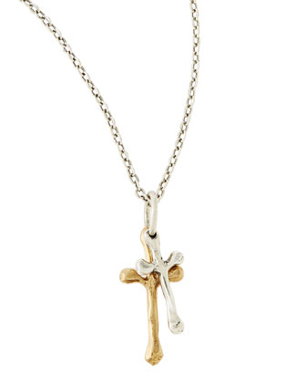 Freedom Cross Double Pendant Necklace