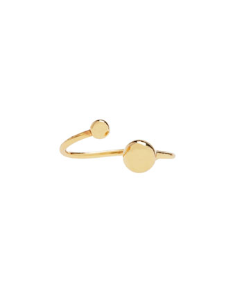 Golden Double Ball Midi Ring