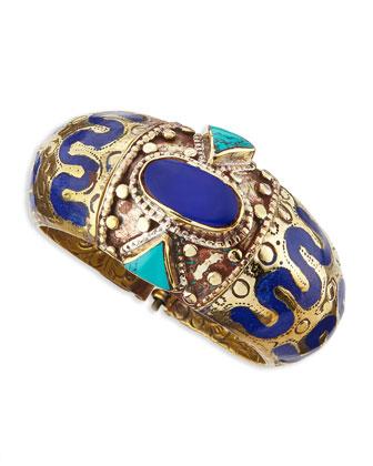 Ahisma Lapis & Turquoise Cuff