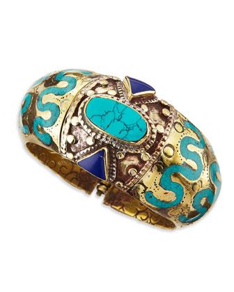 Ahisma Turquoise & Lapis Cuff