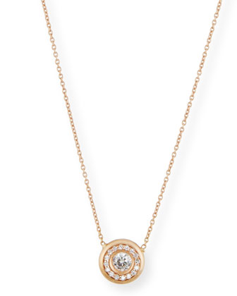 18k White Gold Pave Diamond Pendant Necklace