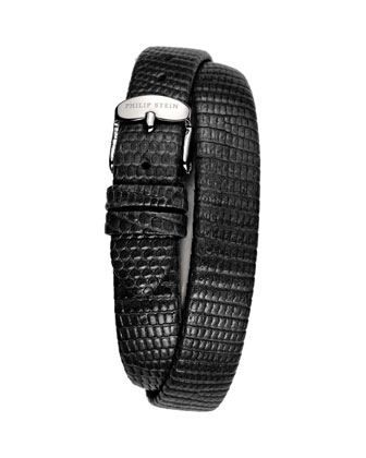12mm Lizard Double-Wrap Strap, Black