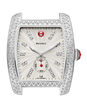 Urban Diamond Stainless White-Dial Watch Head