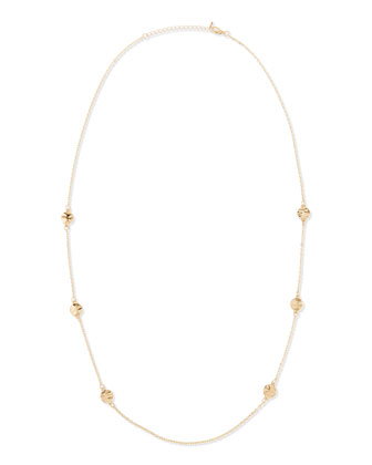 Gypsy Disc Necklace, Yellow Gold-Plate