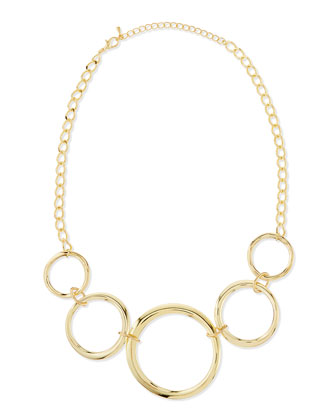 Linked Circle Necklace, Yellow Golden