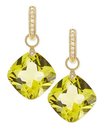Large Lemon Citrine Earring Charms