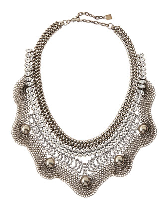 Norgaard Silver Plated Crystal Bib Necklace