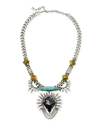 Arley Crystal Necklace with Turquoise