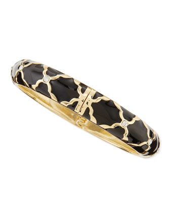 Medium X Bangle, Black