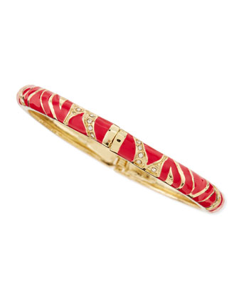 Skinny Zebra Bangle, Red