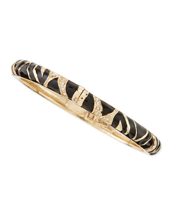 Skinny Zebra Bangle, Black