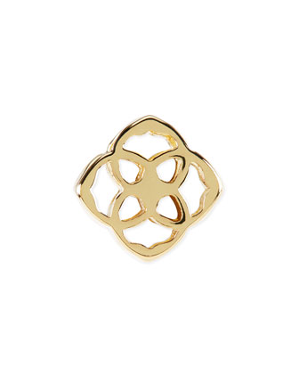 14k Gold Plated Logo Charm