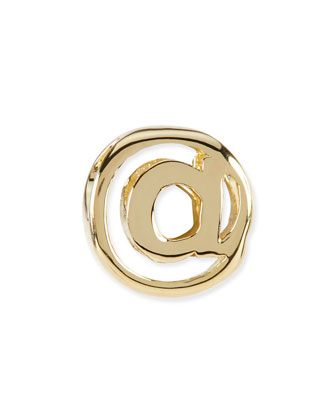 14k Gold-Plated @ At Sign Charm