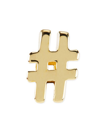 14k Gold-Plated Hashtag Charm