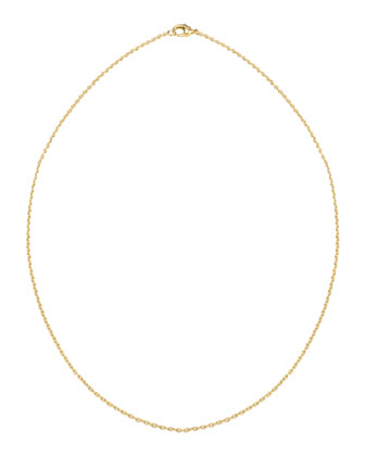 14k Gold-Plated Cable Chain Necklace, 15