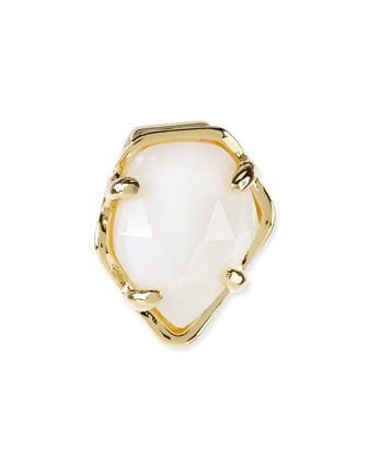 White Mother-of-Pearl Facet Charm