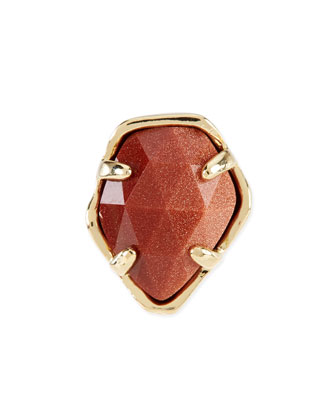 Orange Goldstone Charm